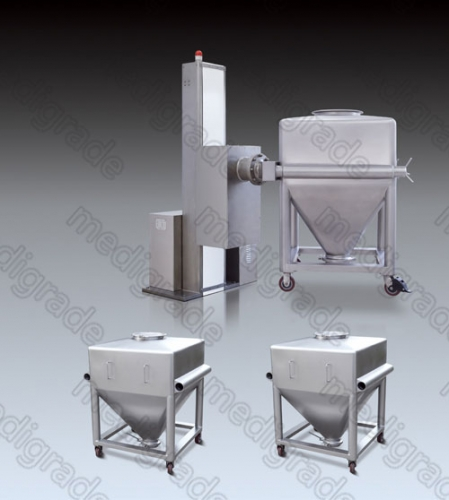 Hlt Post Bin Blender Machine