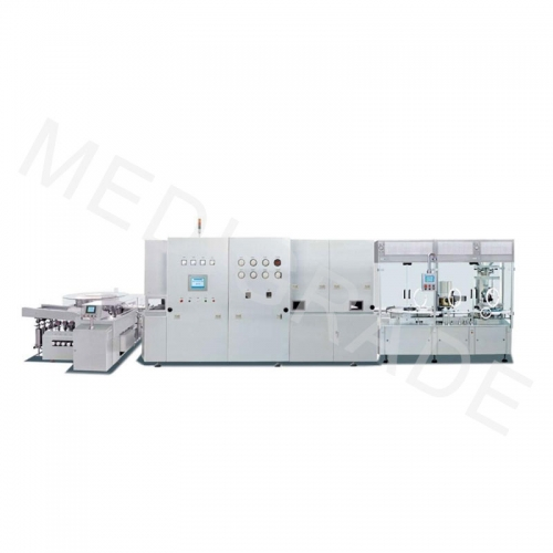 Low speed powder filling production line